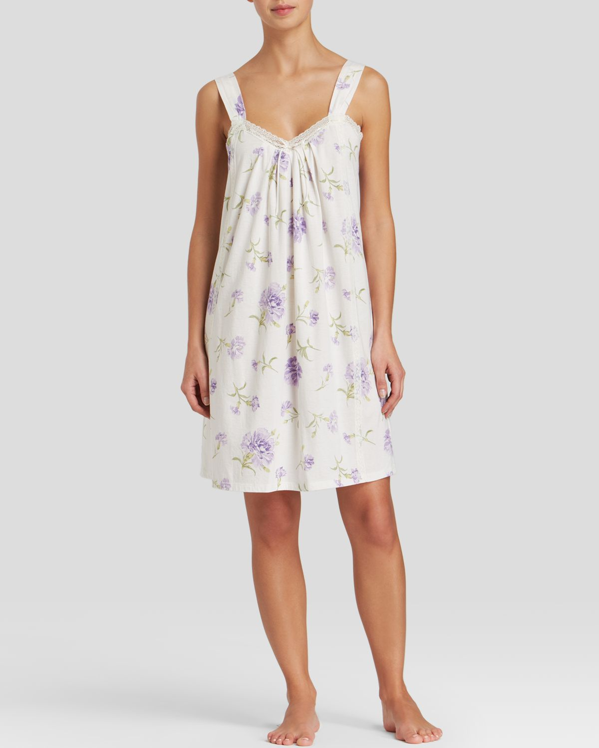 lauren by ralph lauren rebecca knits chemise in floral ellie floral lyst. Black Bedroom Furniture Sets. Home Design Ideas