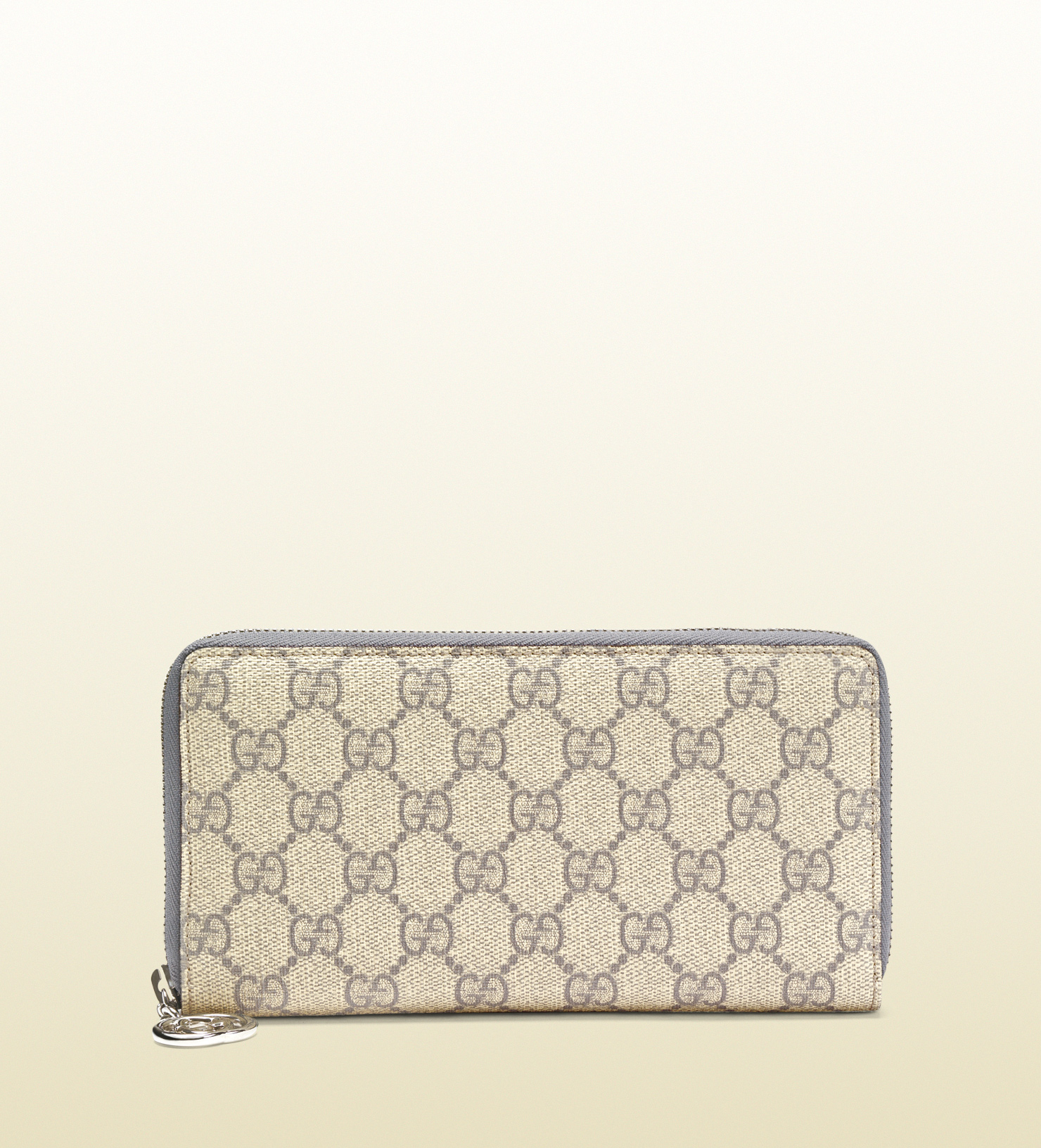 745087981685 Gucci Gg Supreme Canvas Zip Around Wallet in Gray for Men - Lyst