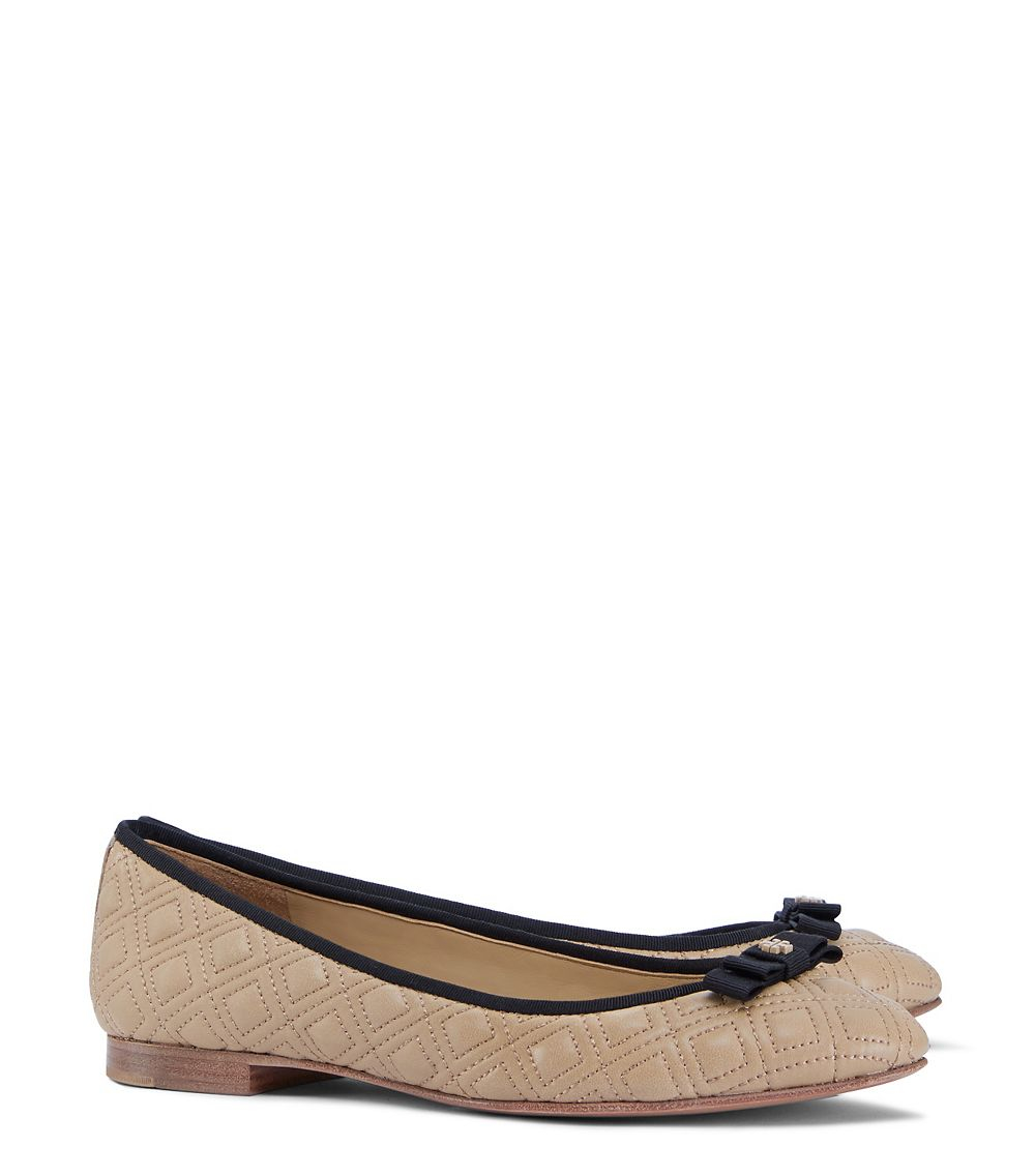 11f0f1a896c3e Lyst - Tory Burch Marion Quilted Ballet Flat in Black