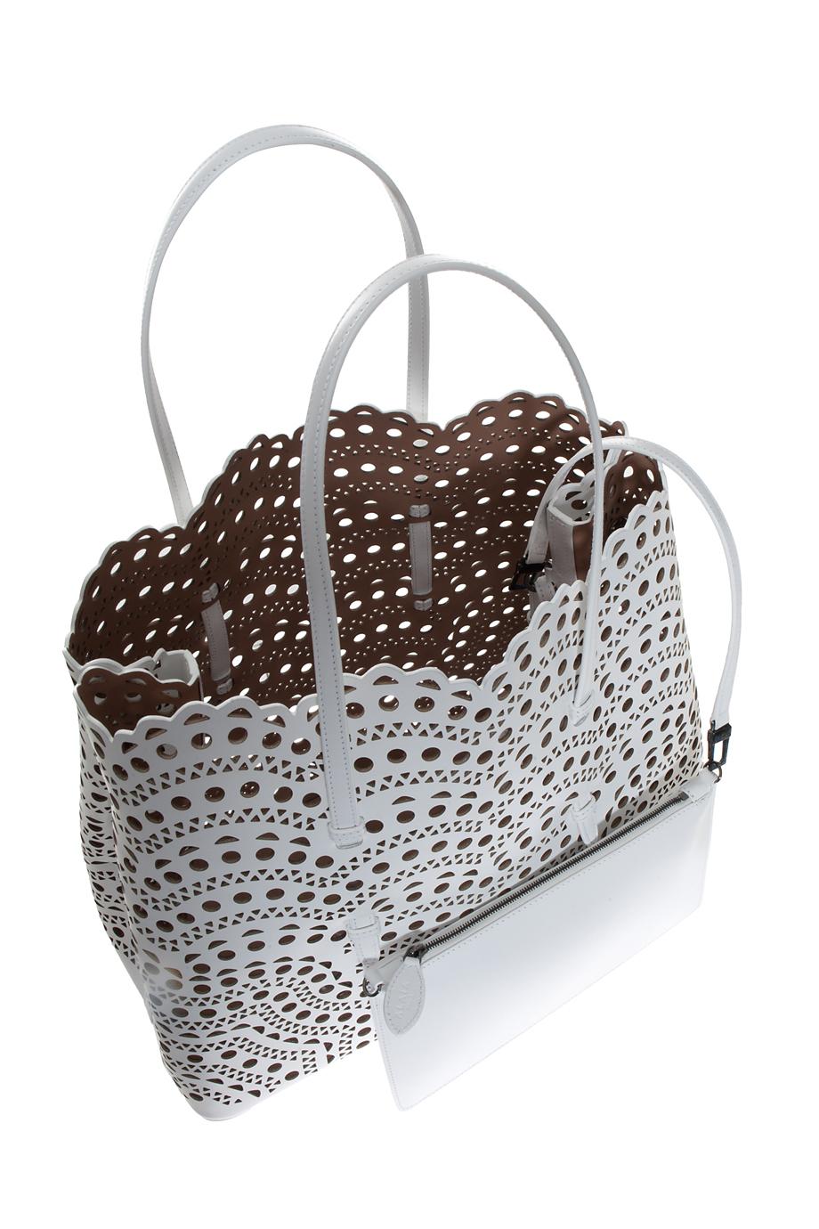 Lyst Ala 239 A Vienne Waves Cutout Medium Bag In White