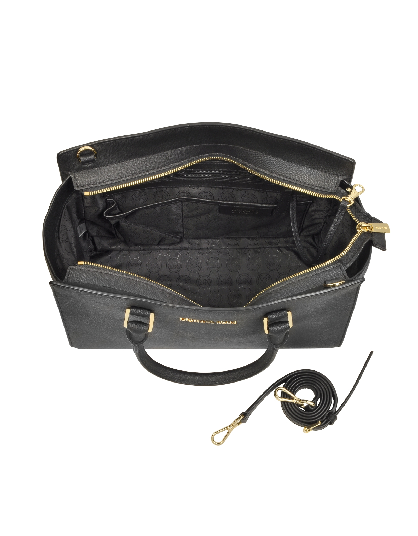 5f642a0fd1744 Lyst - Michael Kors Selma Large Top-zip Saffiano Leather Satchel in ...