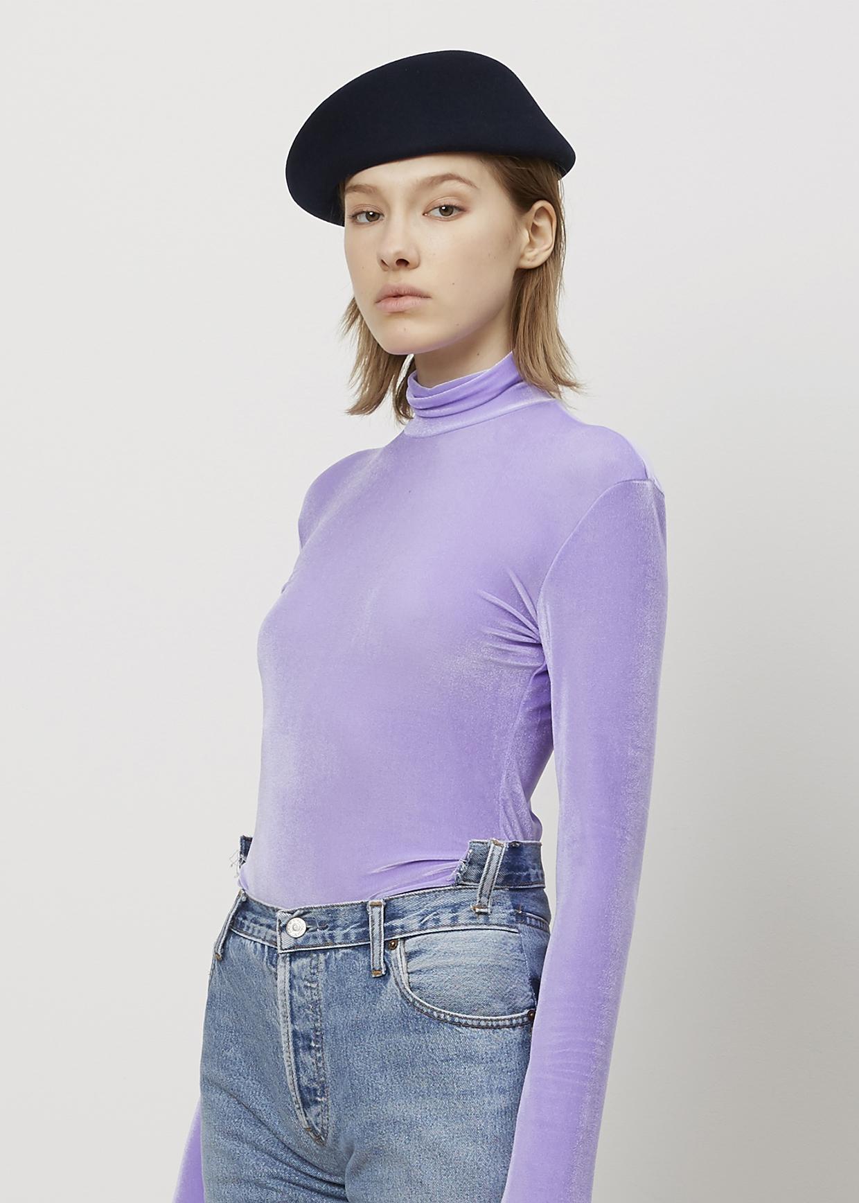 Lyst Vetements Lilac Velvet Turtleneck In Purple