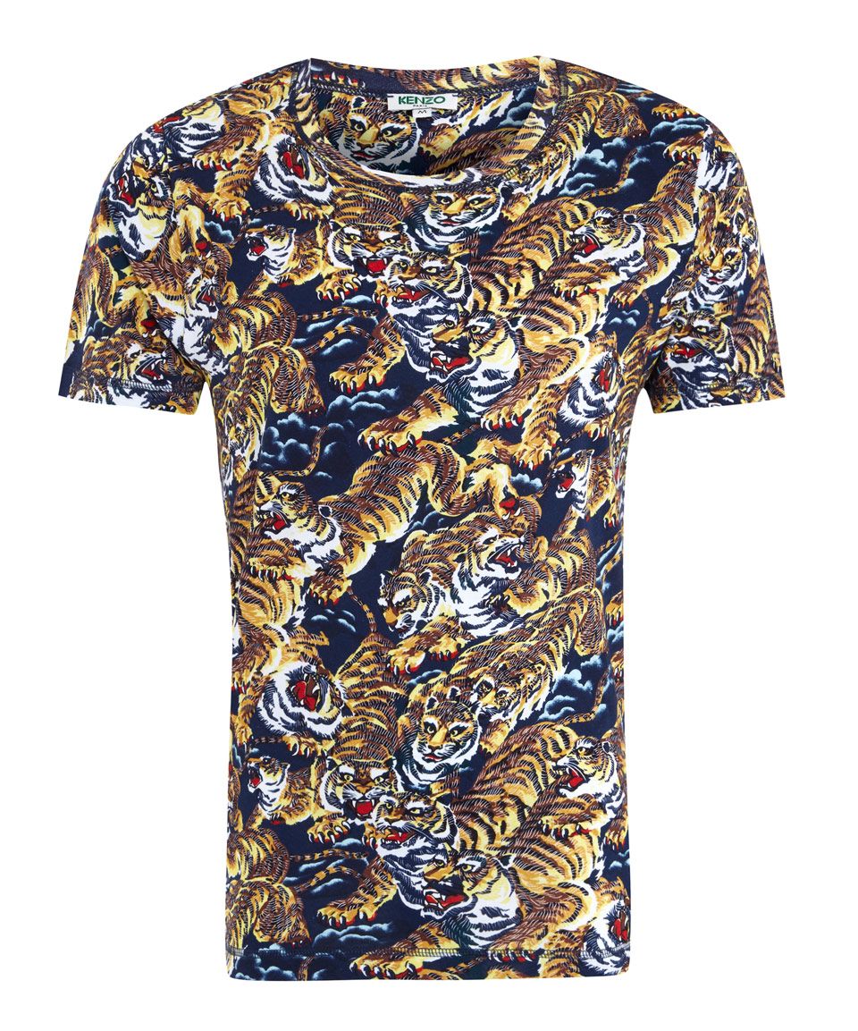 a4acd1230088 KENZO Brown Cotton Flying Tiger T-shirt in Brown for Men - Lyst