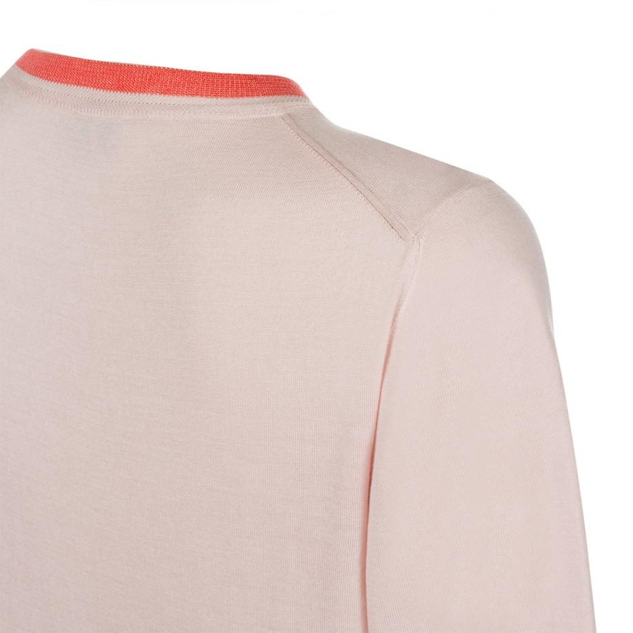 Paul smith Women'S Light Pink Short-Sleeve Silk-Blend Sweater in ...
