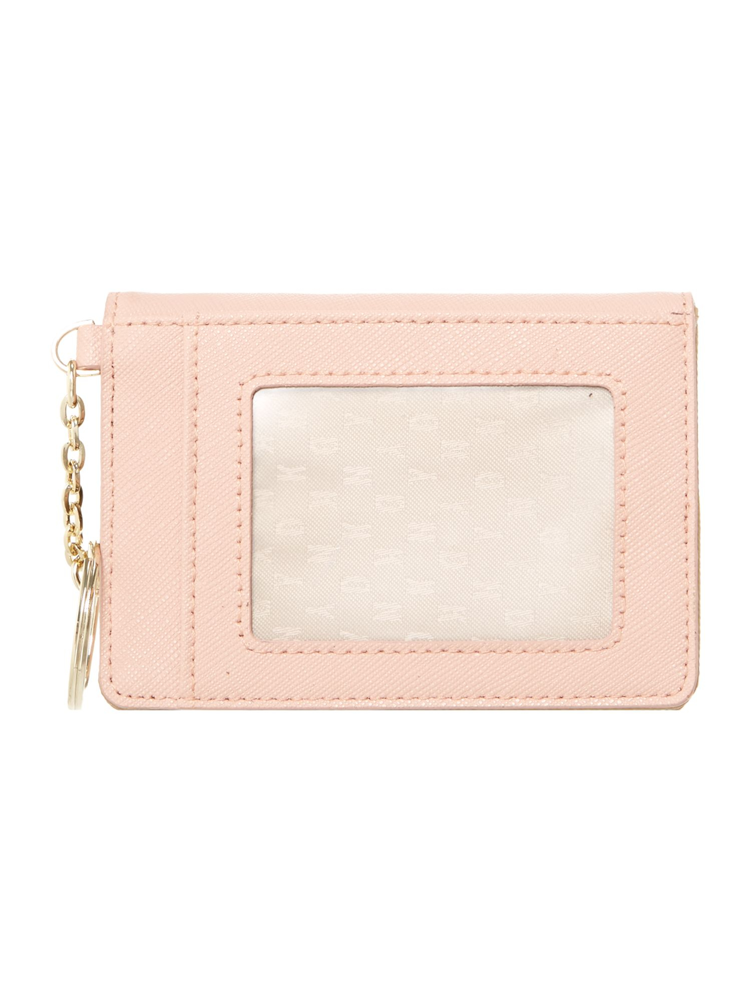 dkny saffiano light pink card holder with keyring in lyst - Card Holder With Keyring