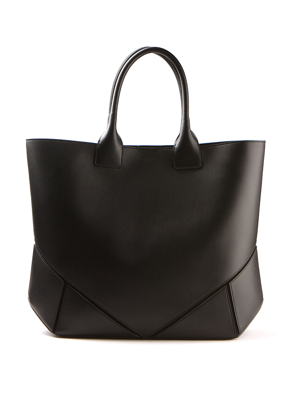 givenchy black leather tote bag in black lyst