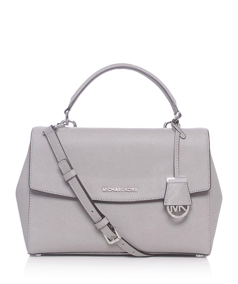 99c3407d9241 ... shop lyst michael michael kors ava medium satchel bag in gray 84f67  51b91