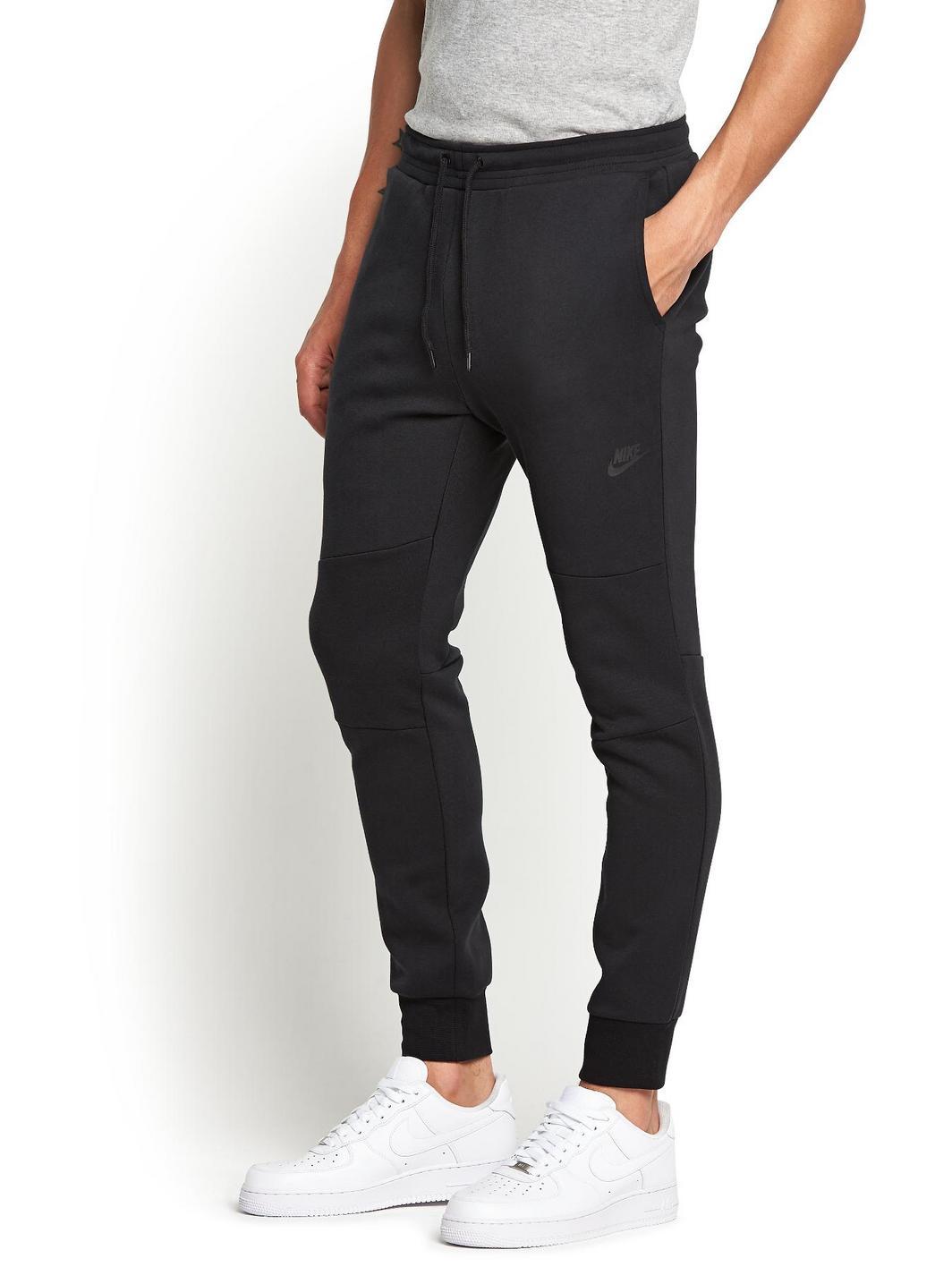 nike mens tech fleece pants in black for men lyst. Black Bedroom Furniture Sets. Home Design Ideas