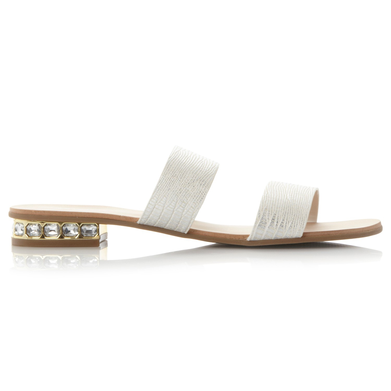 920ad3b9cb531d Dune Nesha Leather Double Strap Sandals in White - Lyst