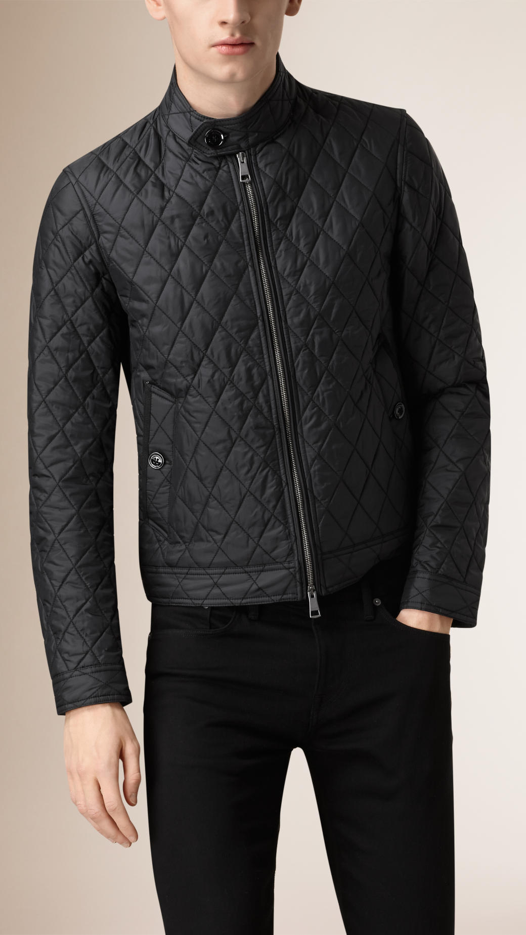 Black padded harrington jacket