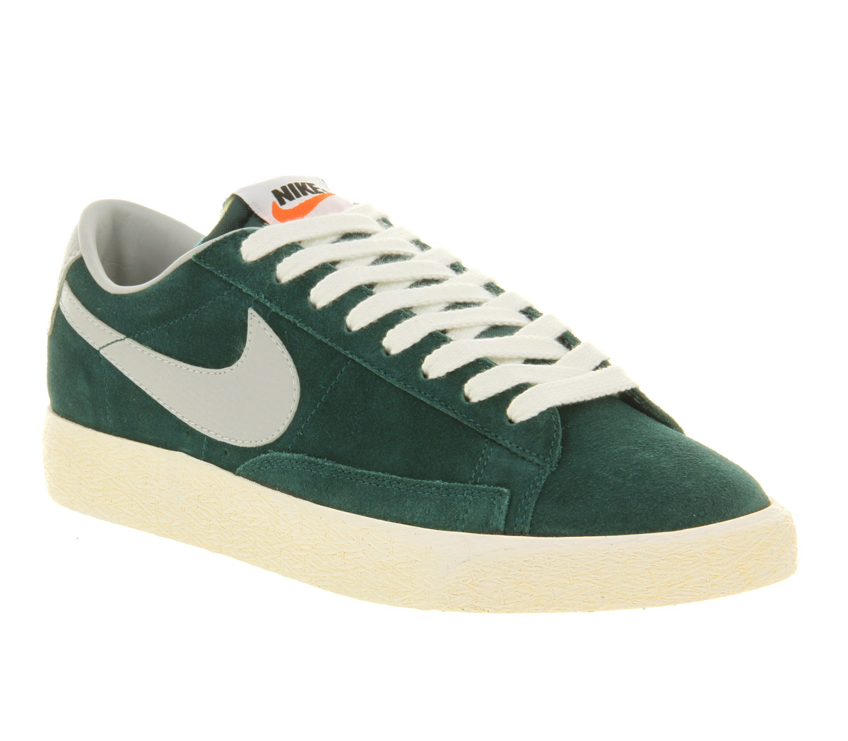 nike blazer low vintage dark atomic strata grey in green. Black Bedroom Furniture Sets. Home Design Ideas
