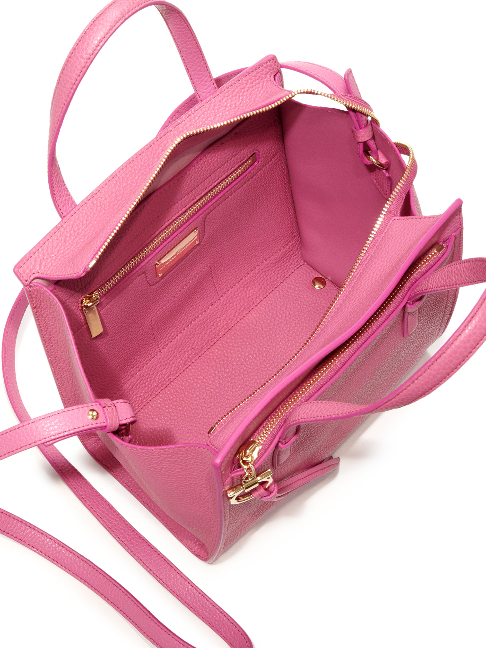 643815c30ab7 Lyst - Ferragamo Amy Small Leather Tote in Pink