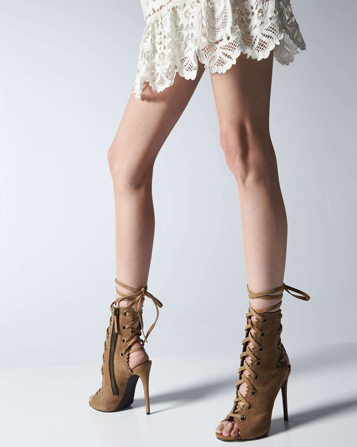 Lyst - Giuseppe Zanotti Suede Lace-up Boot in Brown f80422b7e37a