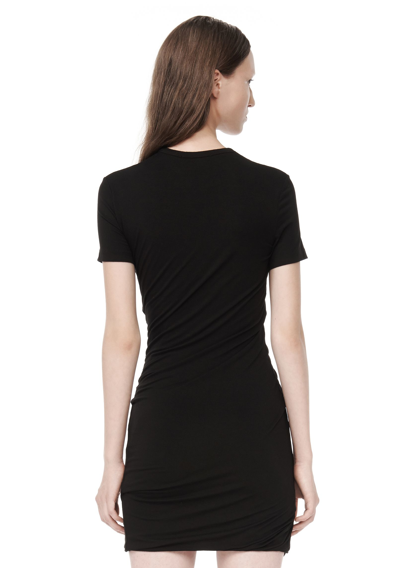 lyst t by alexander wang stretch jersey torqued dress in. Black Bedroom Furniture Sets. Home Design Ideas