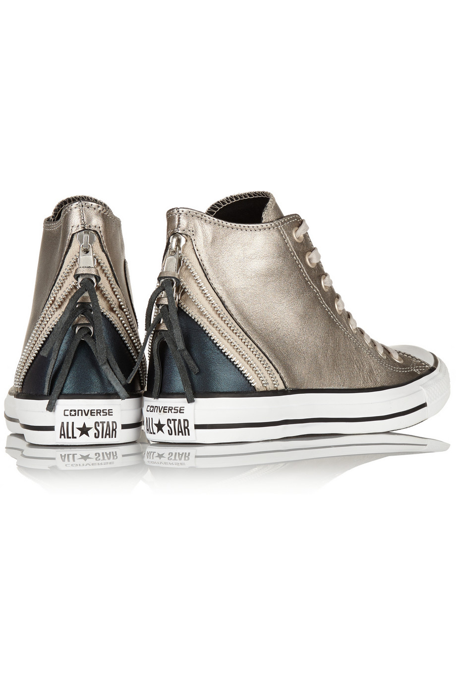 e85695884 Lyst - Converse Chuck Taylor All Star Tri Zip Leather High-Top ...