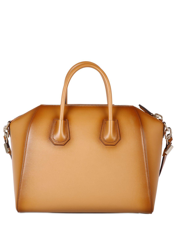 Lyst Givenchy Medium Antigona Vintage Leather Bag In Brown