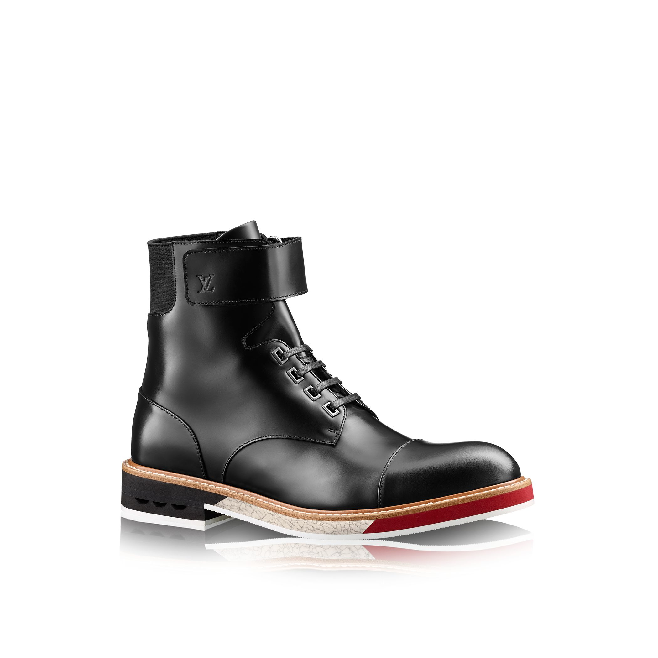 louis vuitton sword ankle boot in black for lyst