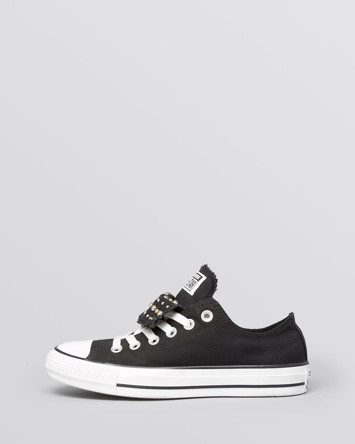 06a86303acc8 Lyst - Converse Lace Up Sneakers - Women S All Star Studded Double ...