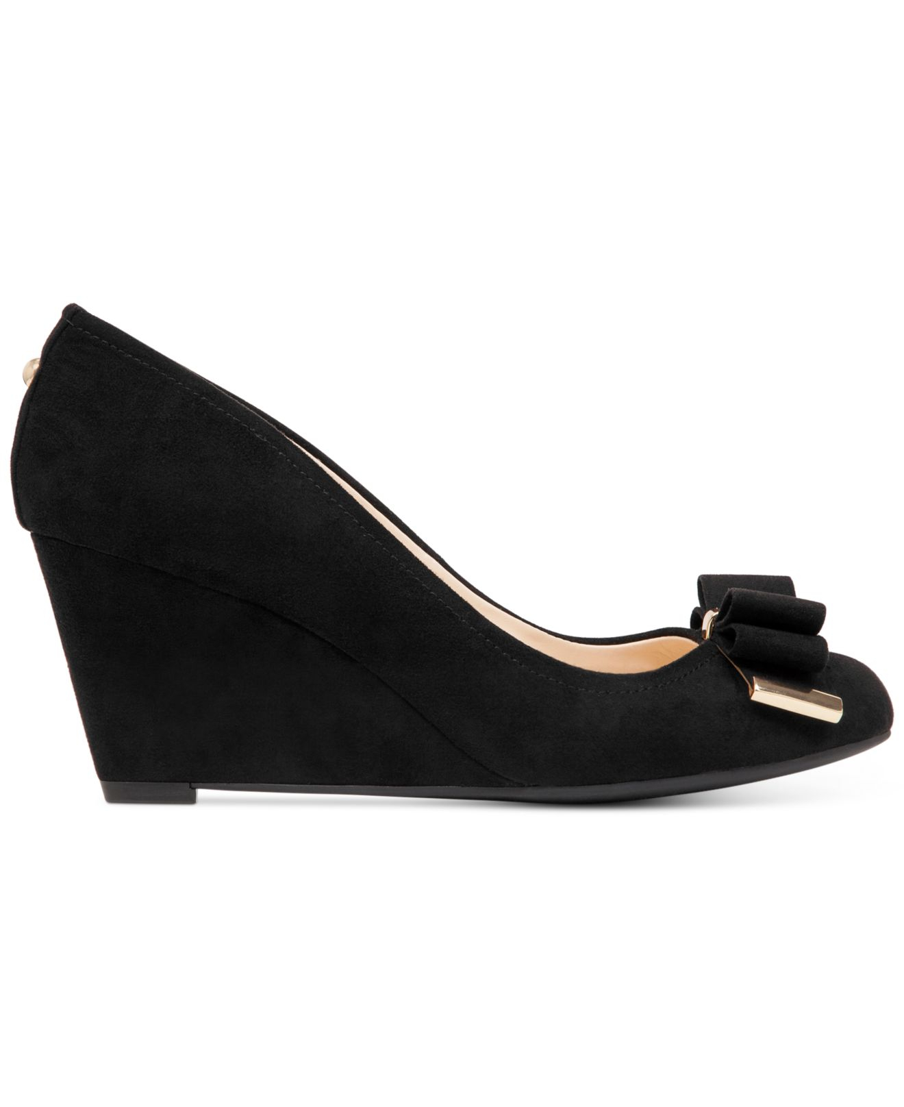 52ff055db79 Lyst - Jessica Simpson Slane Bow Wedges in Black