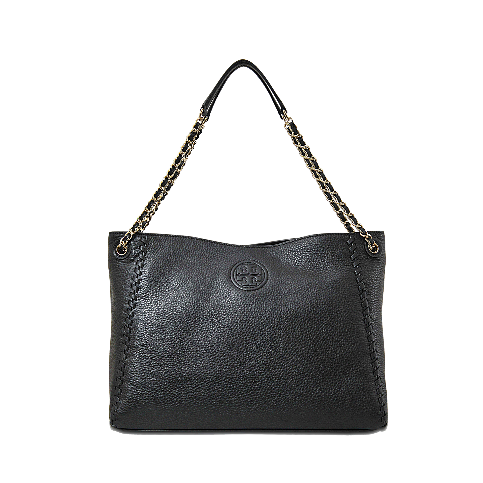 77ec0489e6d8 Lyst - Tory Burch Marion Chain-shoulder Slouchy Tote in Black