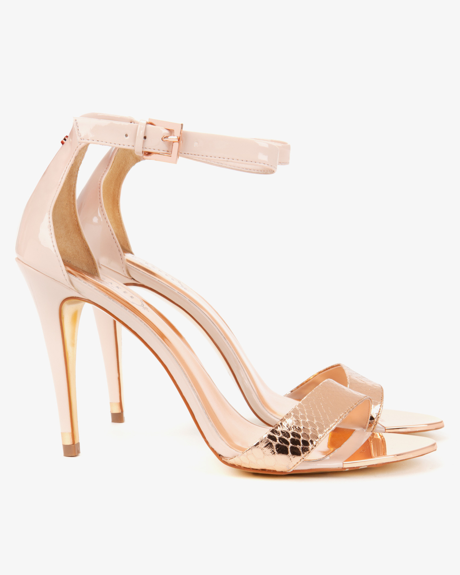 Lyst Ted Baker Ankle Strap Sandals In Pink