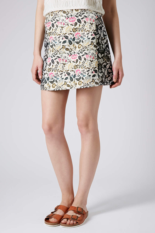 dd70fed45c TOPSHOP Tall Garden Floral Aline Skirt - Lyst