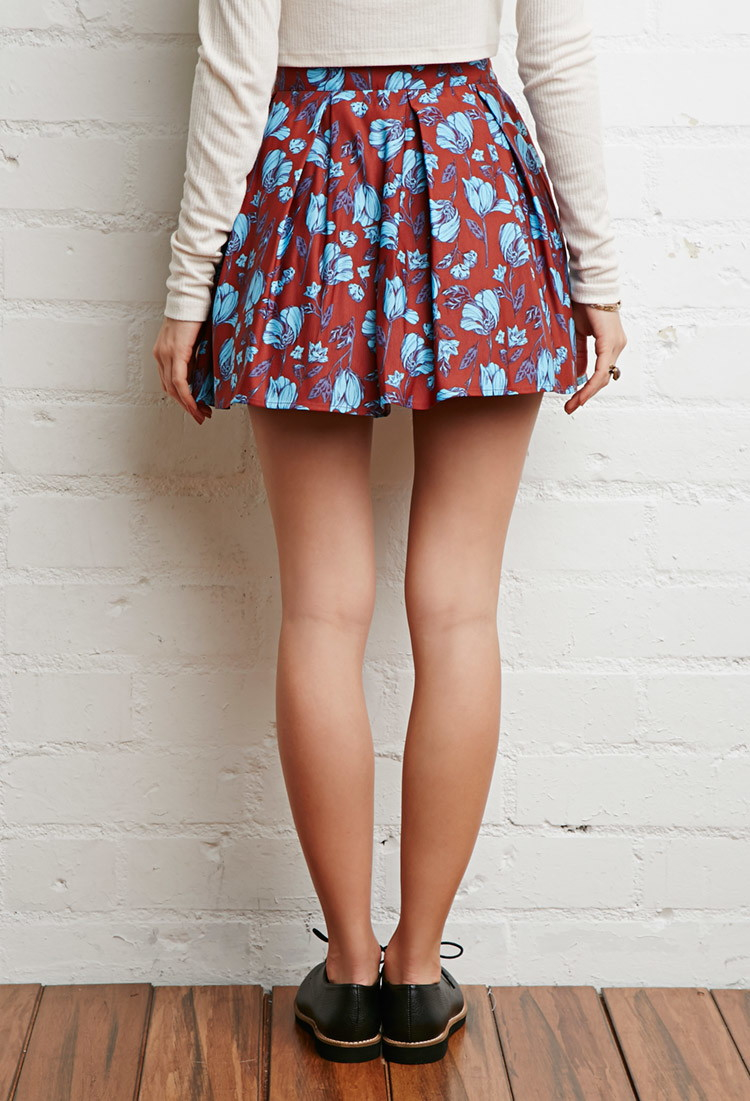 Forever 21 Pleated Floral Skirt You've Been Added To The Waitlist ...
