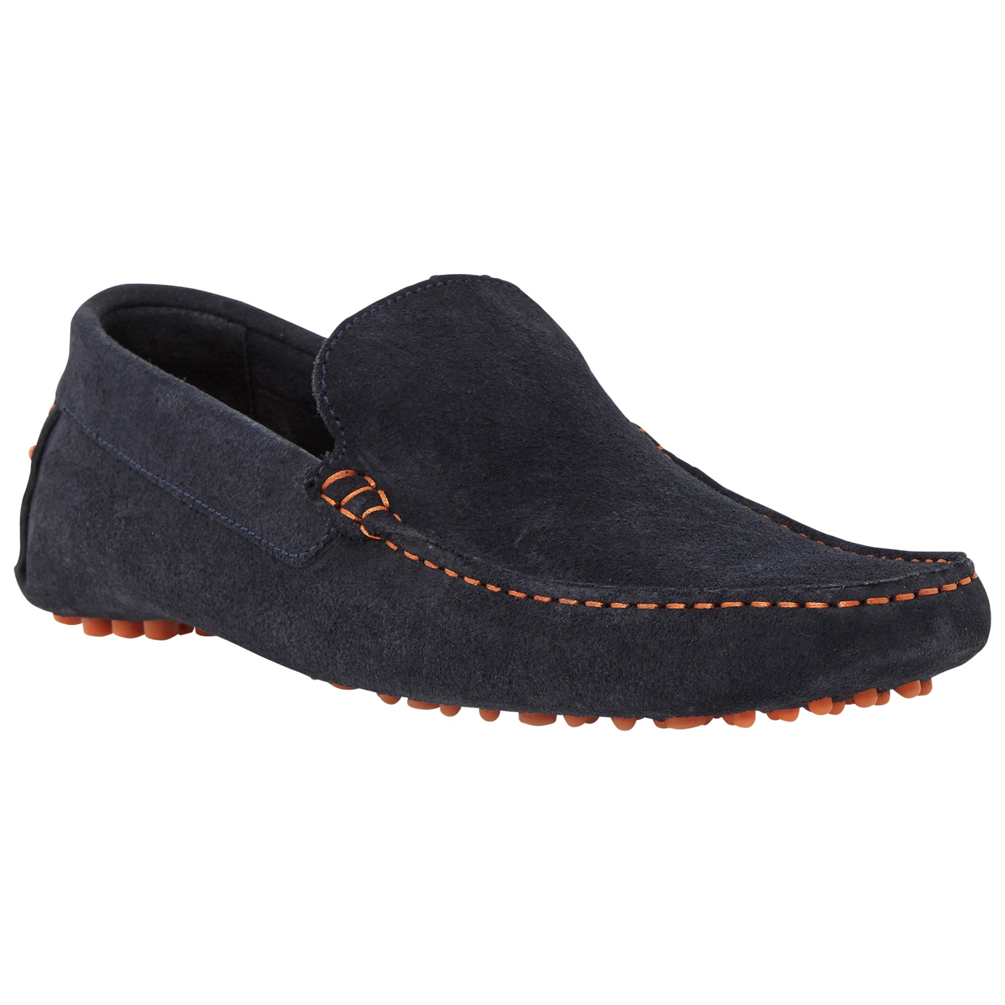 39fb429873c035 Dune Brighton Rock Woven Moccasin in Blue for Men - Lyst