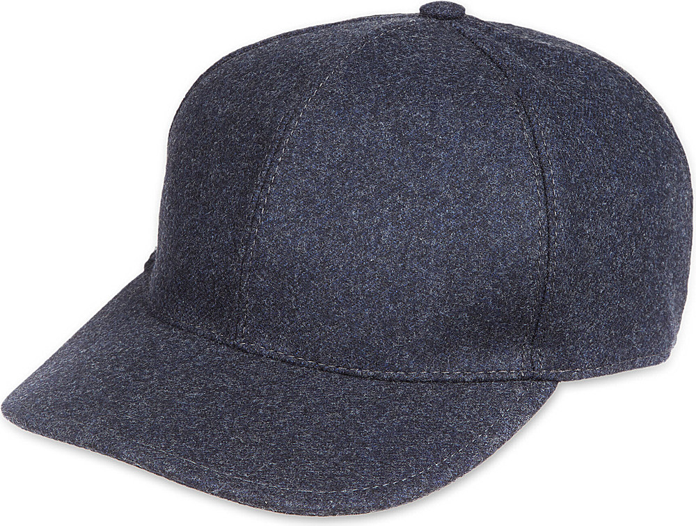 Lyst - Brunello Cucinelli Wool Baseball Cap in Black for Men 4c2c454b79a2