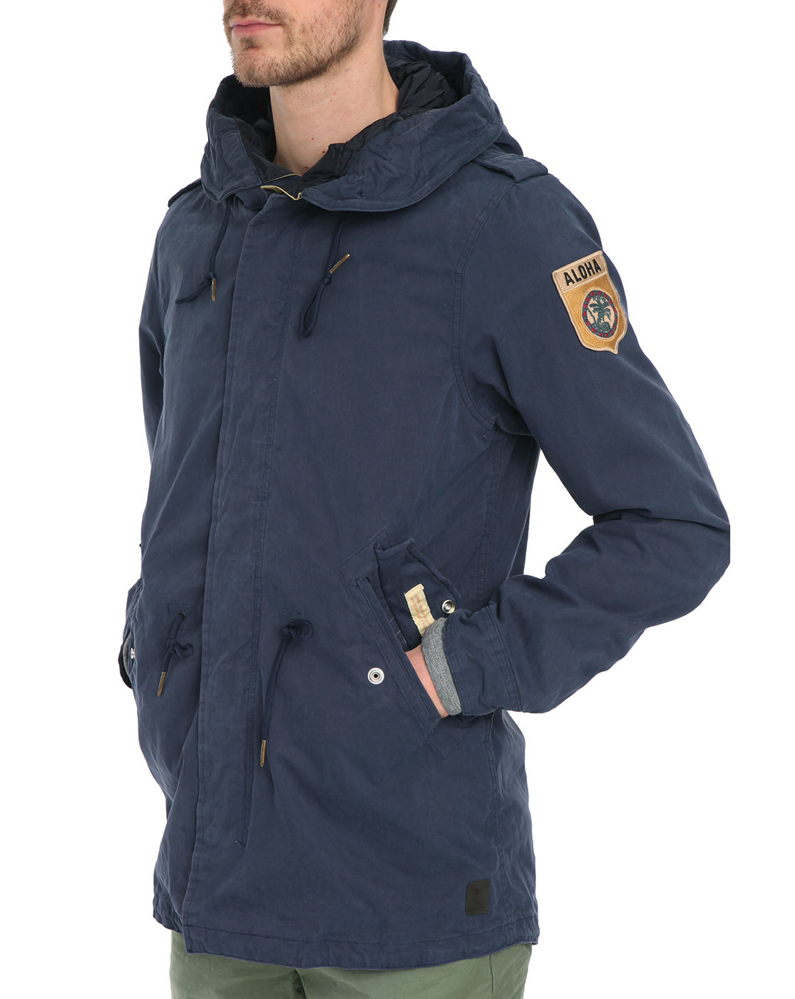 scotch soda navy fishtail parka in blue for men lyst. Black Bedroom Furniture Sets. Home Design Ideas