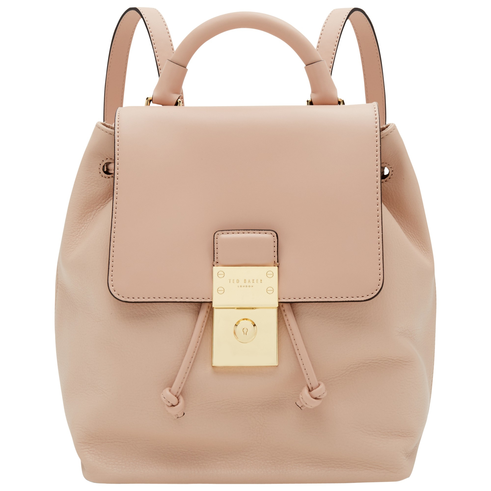 84e1d5b399 Ted Baker Nahra Leather Backpack in Natural - Lyst