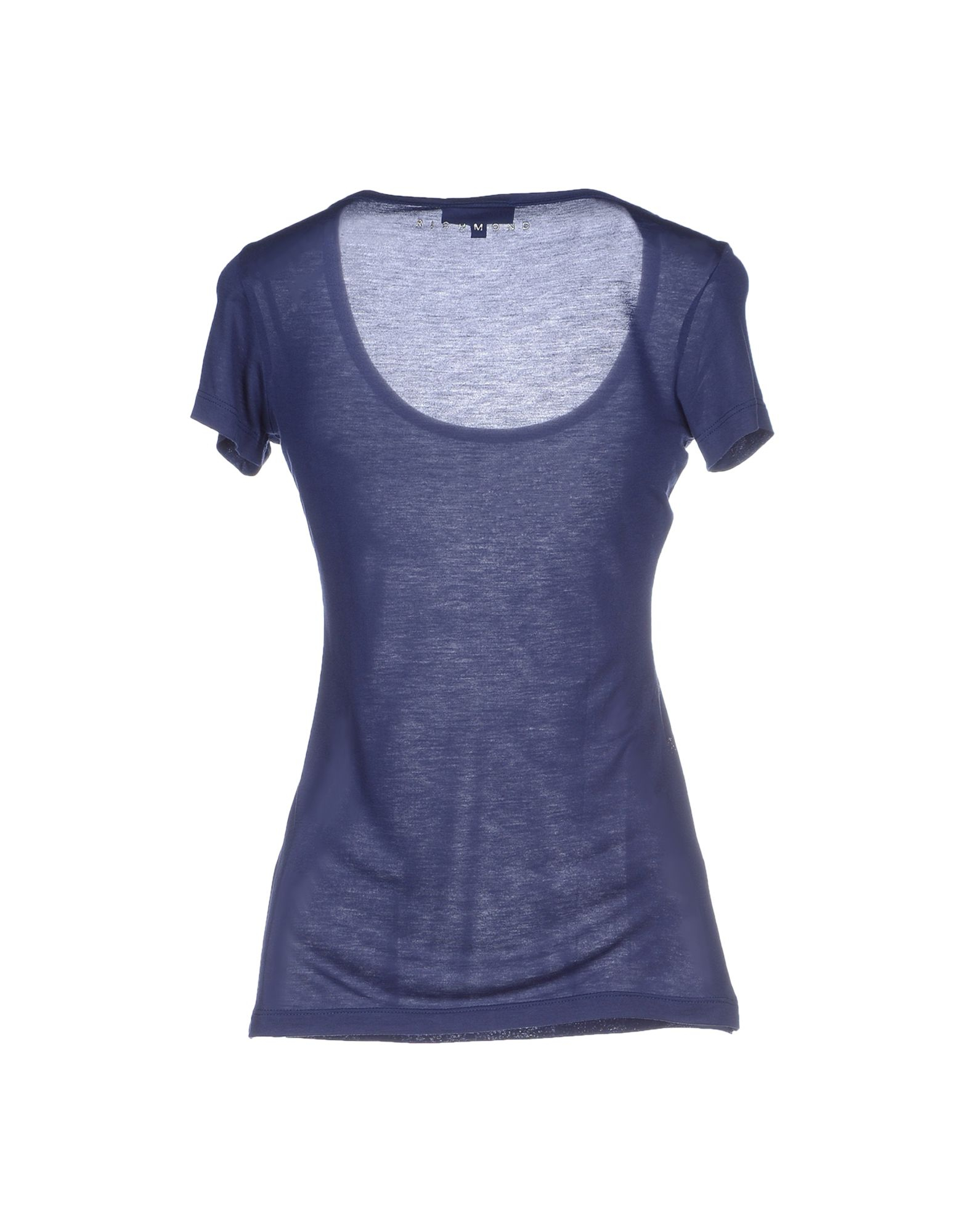 Lyst john richmond t shirt in blue for T shirt printing richmond va