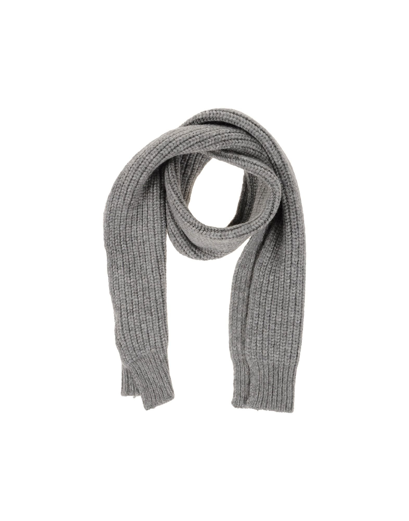closed oblong scarf in gray lyst