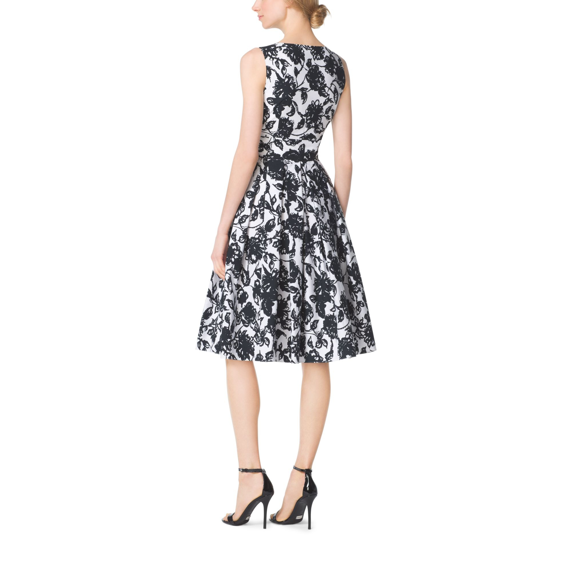 Michael Kors Laukut Pori : Michael kors brushstroke floral cotton matelass? dress in