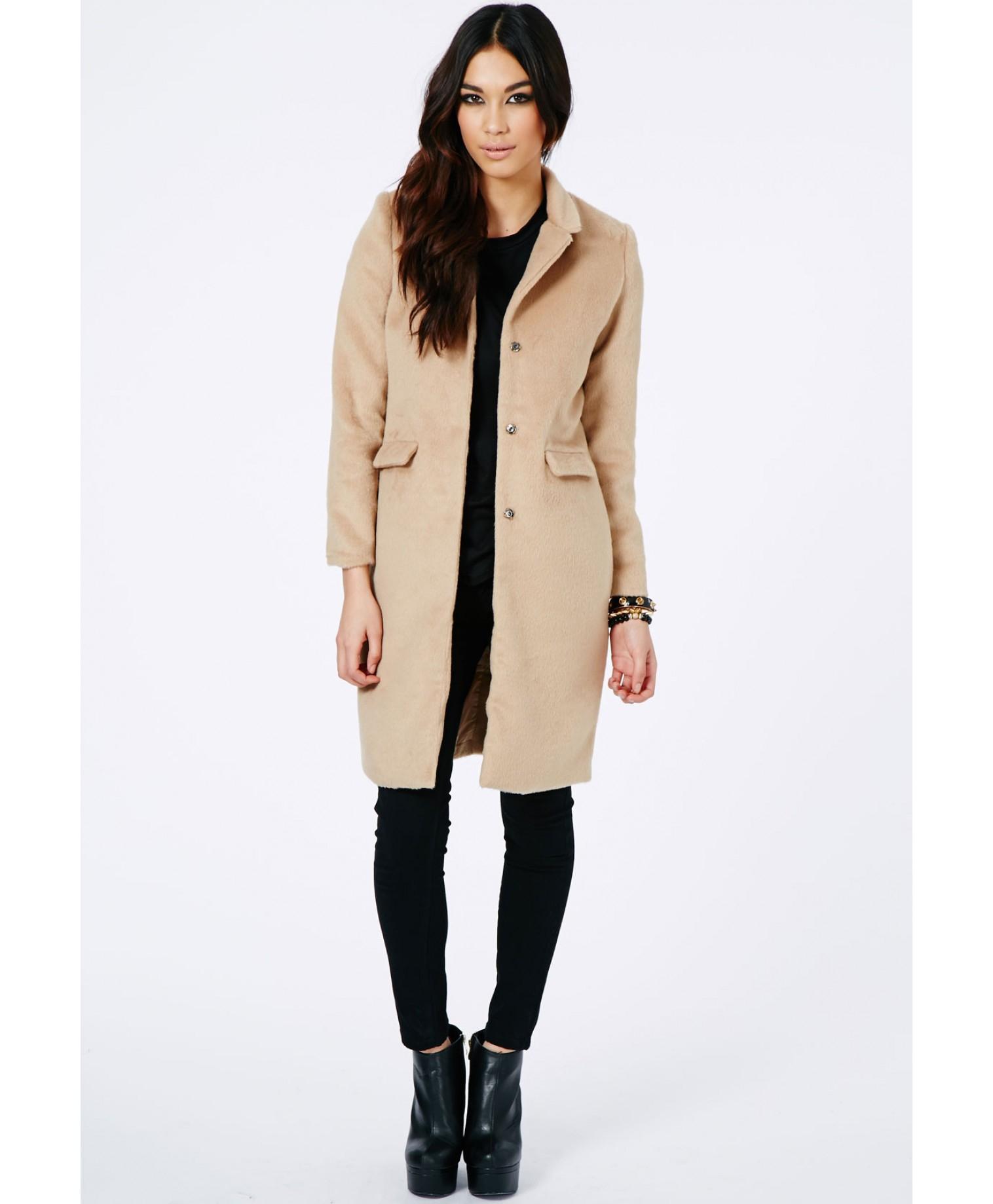 missguided hether textured tailored boyfriend coat in camel in #1: missguided beige hether textured tailored boyfriend coat in camel product 1 4 normal