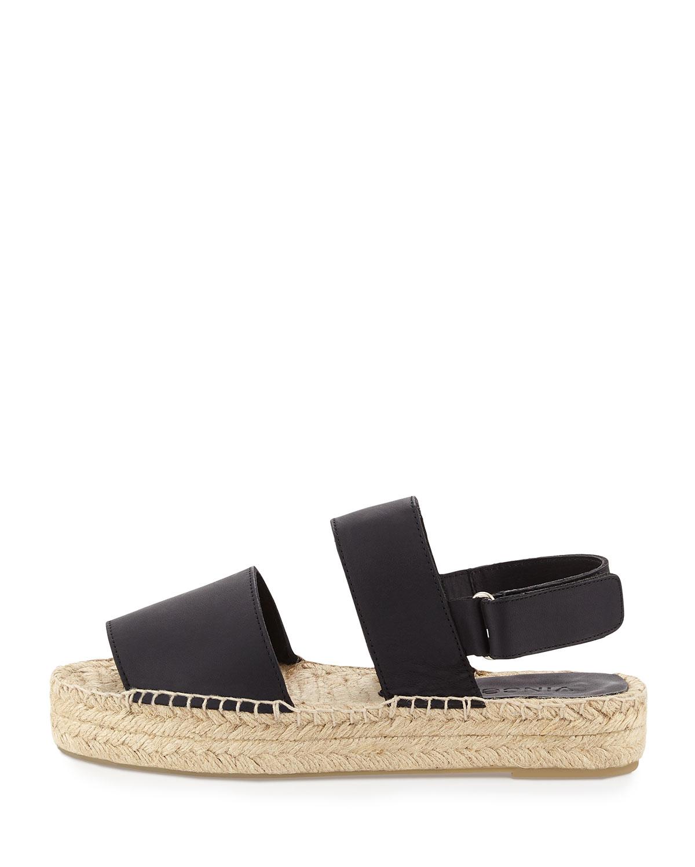 Vince Emilia Platform Espadrille Sandal In Black Lyst