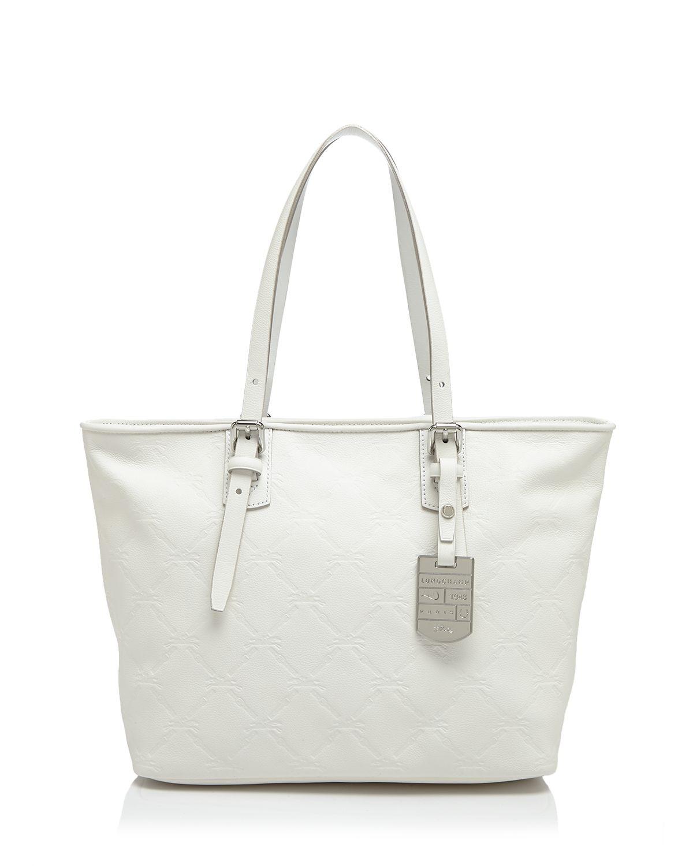 Lyst Piccola Tote Spalla Lm In Cuir Bianco Longchamp rqIwSxr