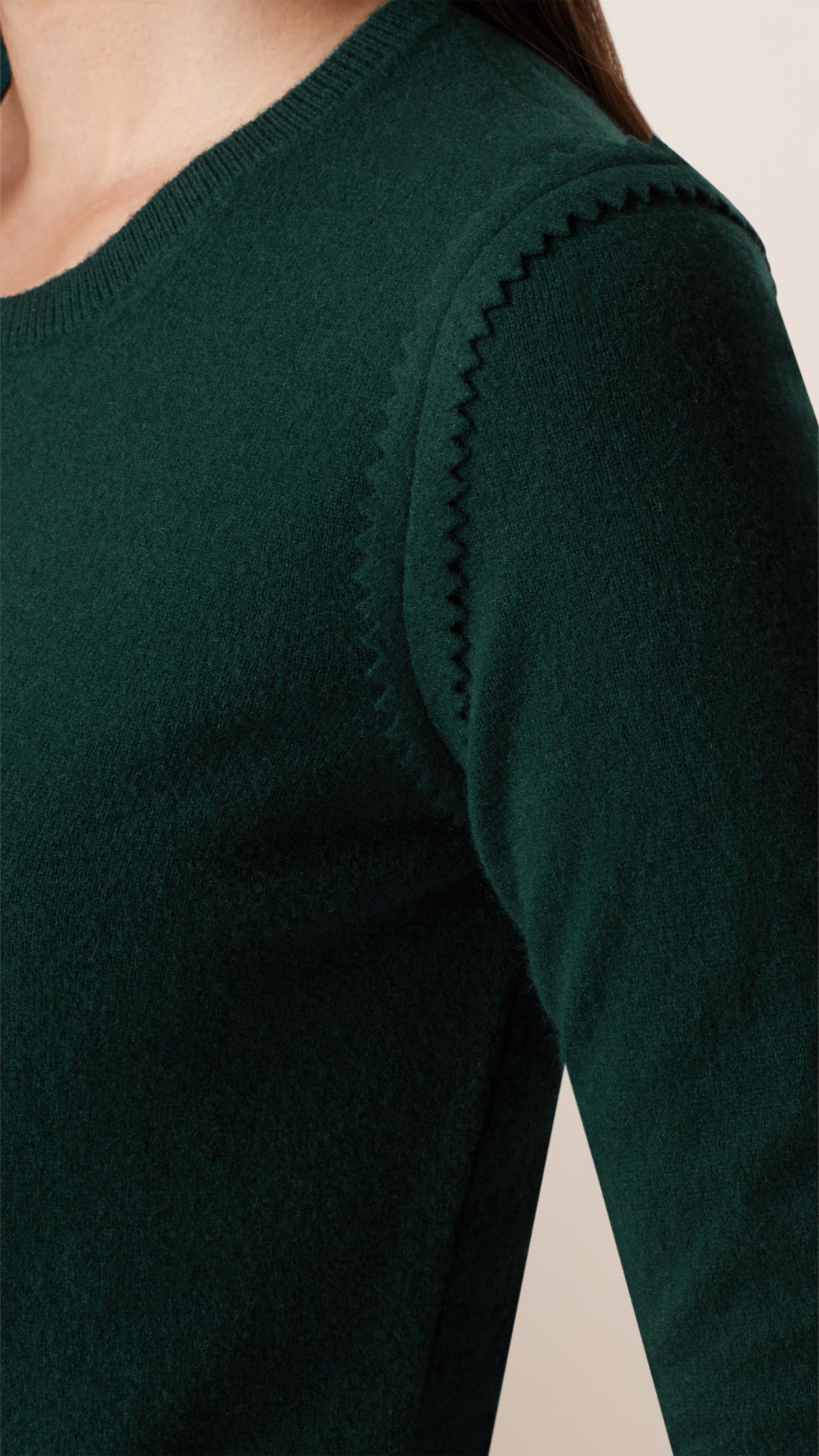 Burberry Slim Fit Virgin Wool Cashmere Sweater in Green | Lyst