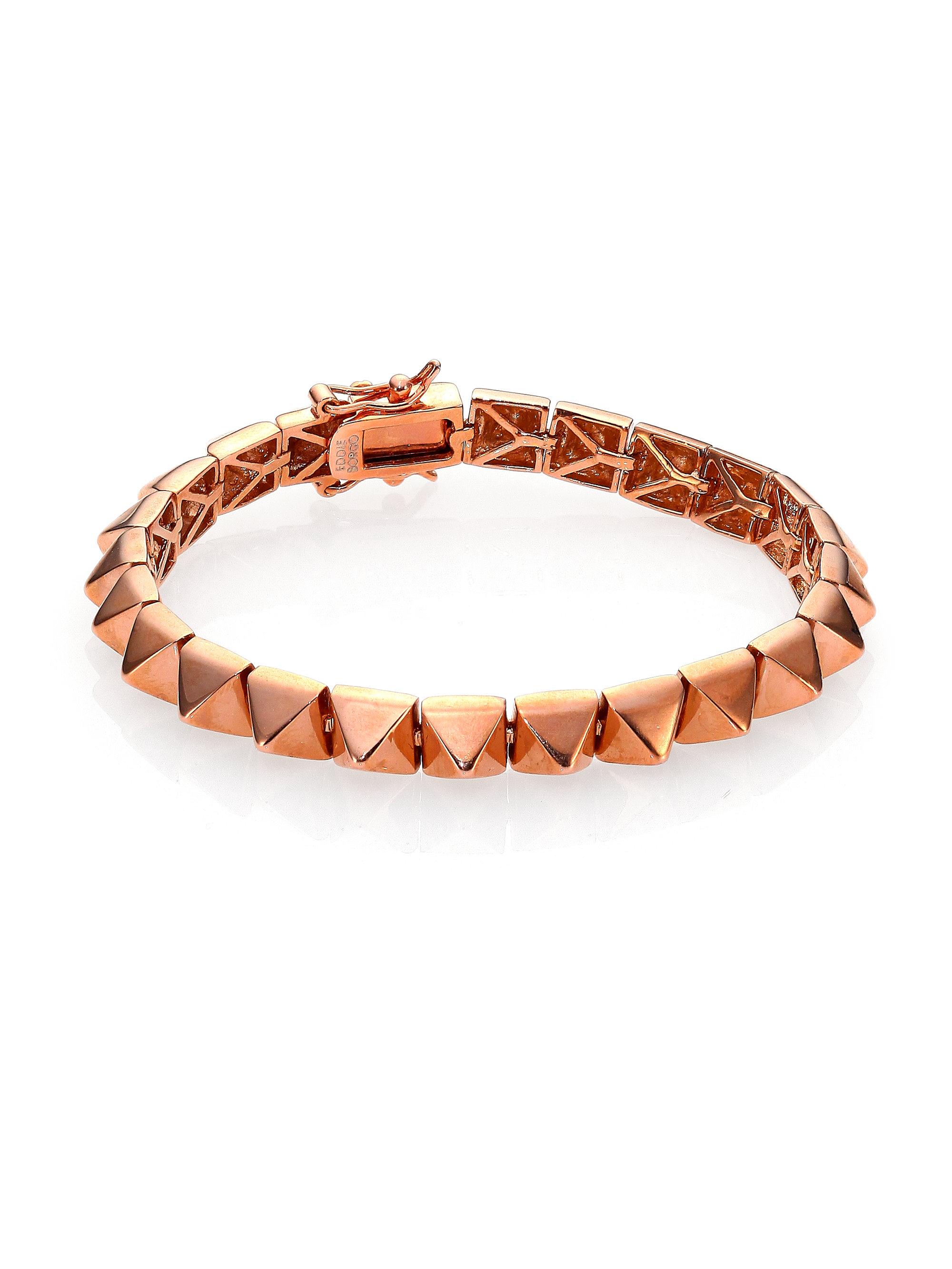 eddie borgo small pyramid bracelet goldtone in