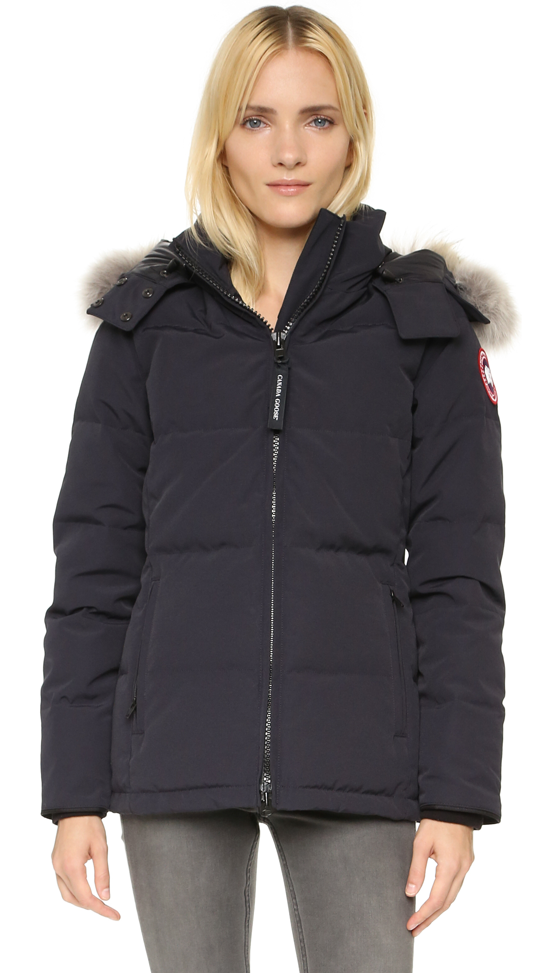 32a6b035d5d8 Canada Goose Chelsea Parka in Blue - Lyst