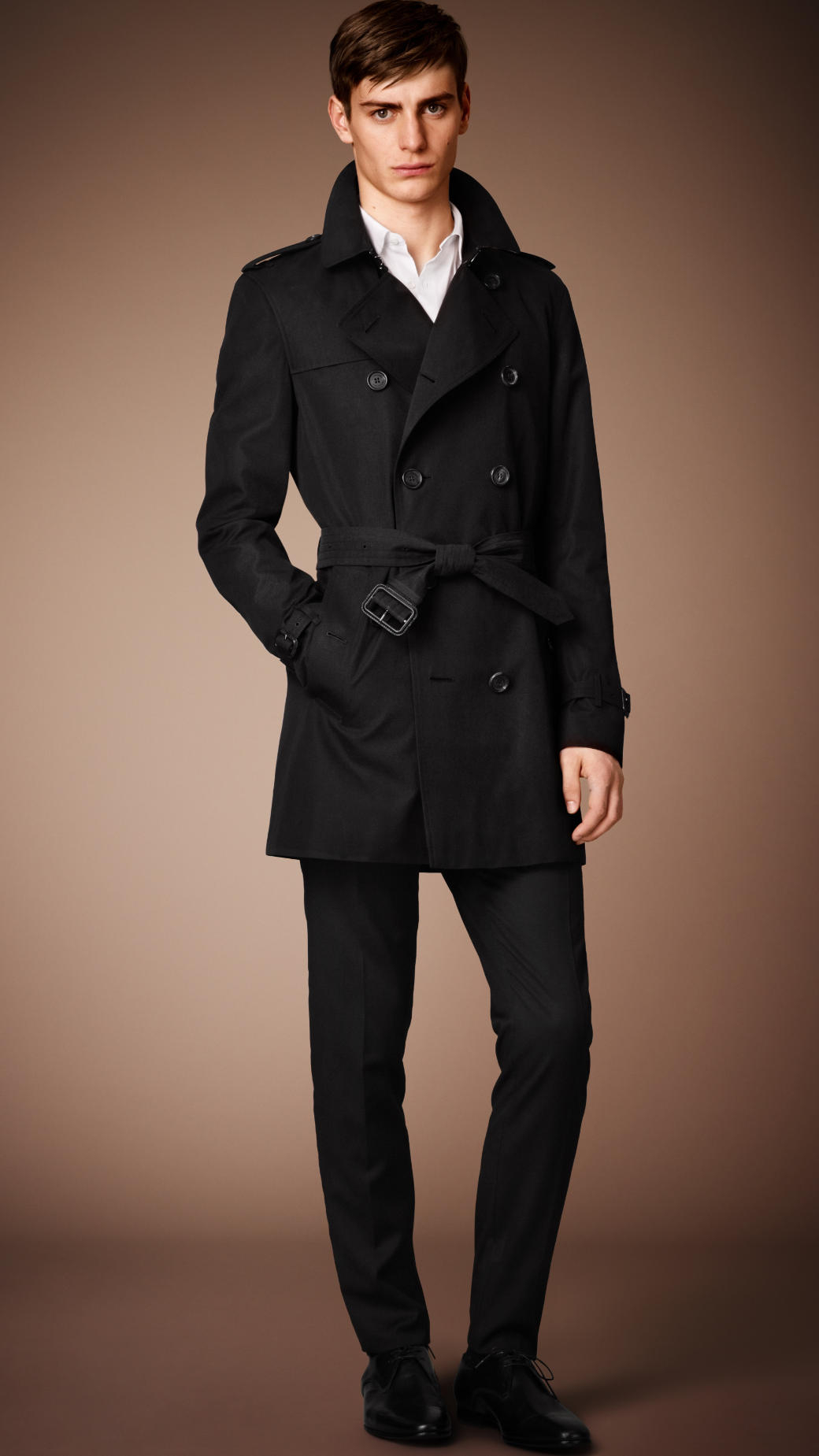 Burberry The Kensington - Mid-Length Heritage Trench Coat in Blue ...