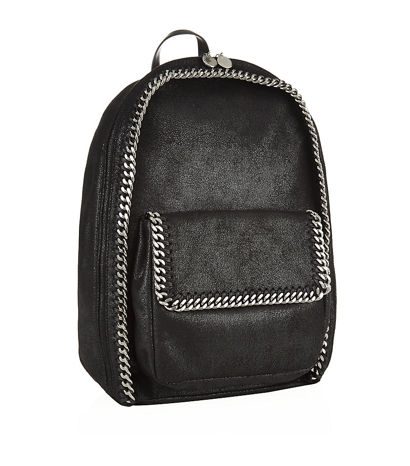 stella mccartney falabella zip backpack in black lyst. Black Bedroom Furniture Sets. Home Design Ideas