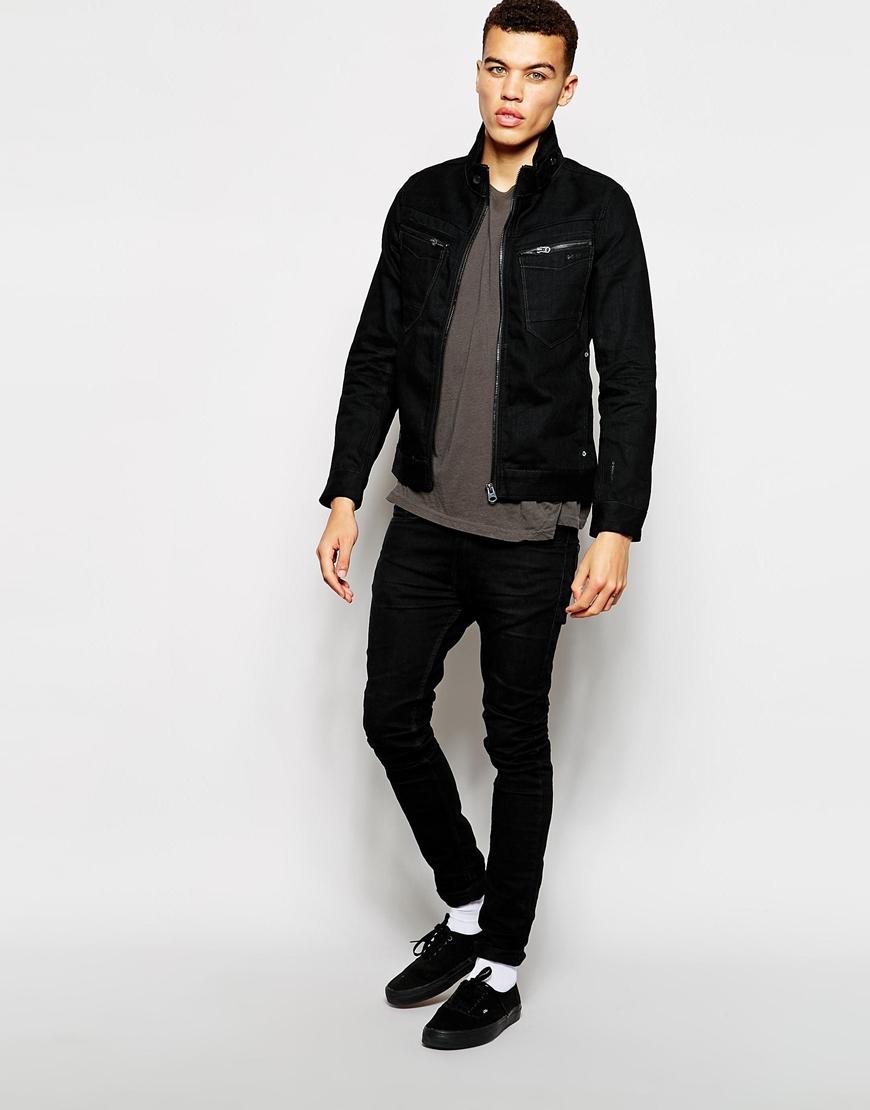 3e6ef9a588142 Lyst - G-Star RAW G Star Denim Jacket Arc Zip Slim 3d Black 3d Raw ...