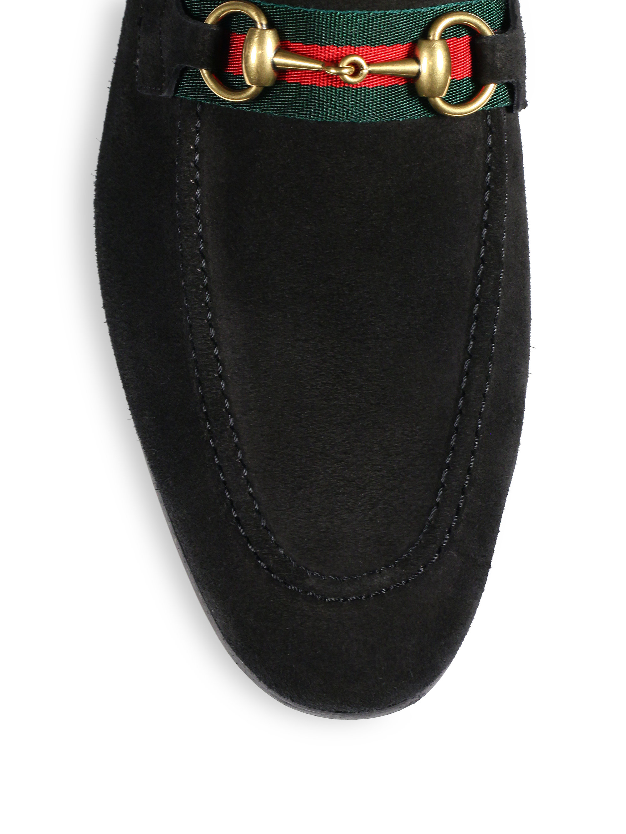 Lyst Gucci Suede Horsebit Loafers In Brown For Men
