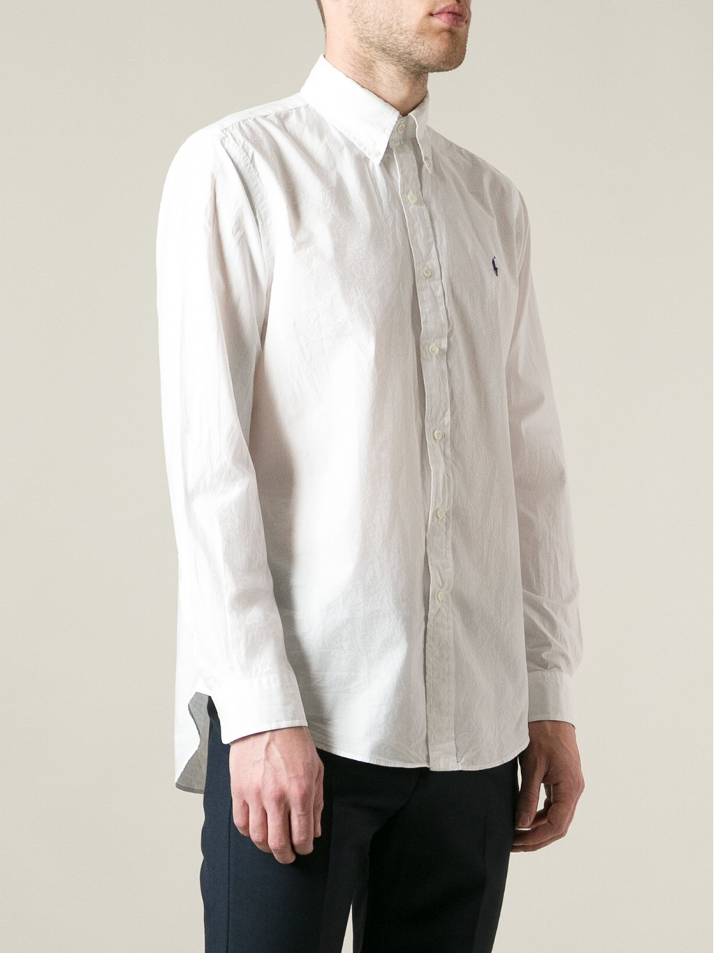 9d33efa6 ... italy lyst polo ralph lauren button down shirt in white for men 9d792  d3a50