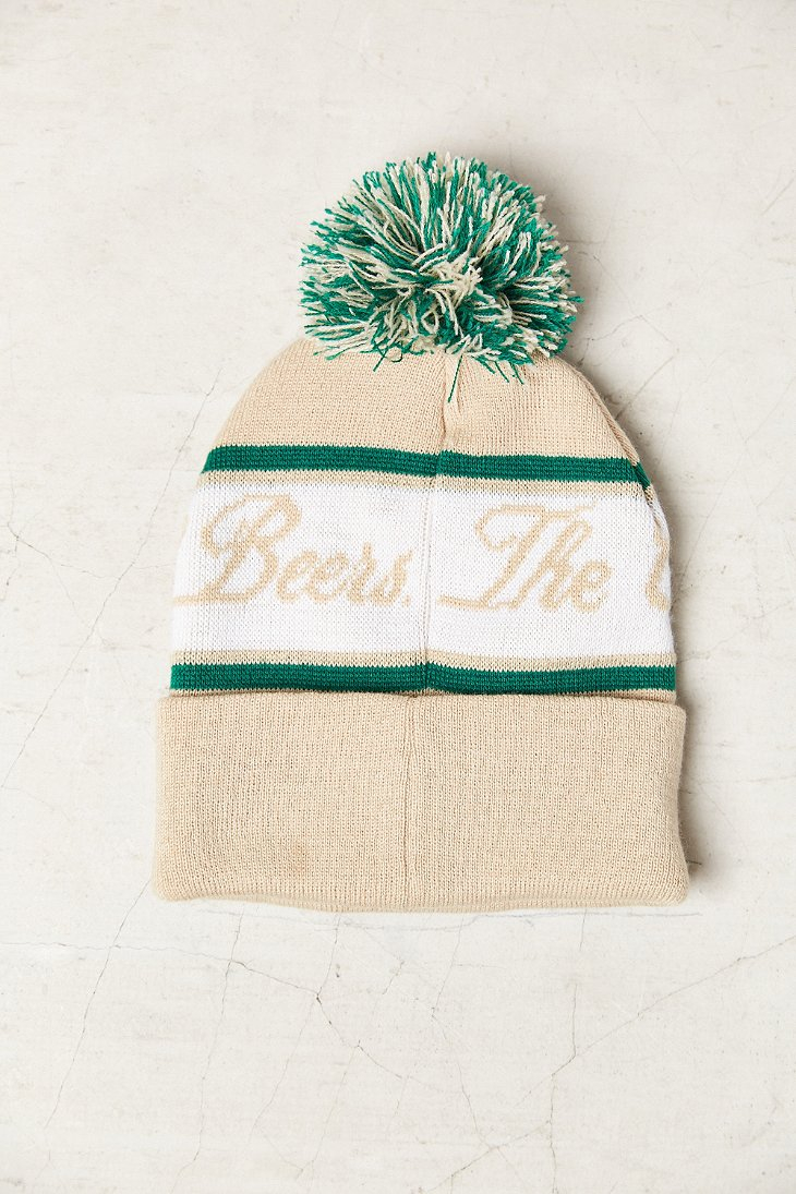 e076fed5997 Lyst - Urban Outfitters Miller High Life Beanie in Natural for Men