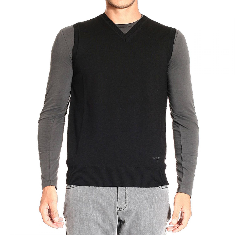 lyst emporio armani sweater in black for men. Black Bedroom Furniture Sets. Home Design Ideas