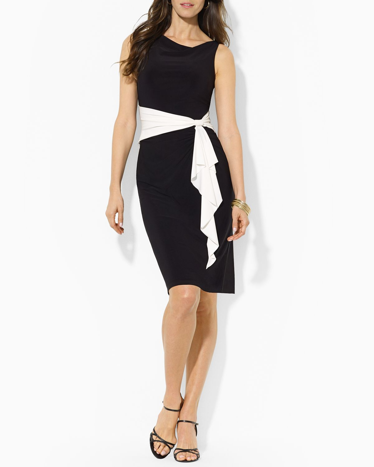 Ralph Lauren Black And White Dresses