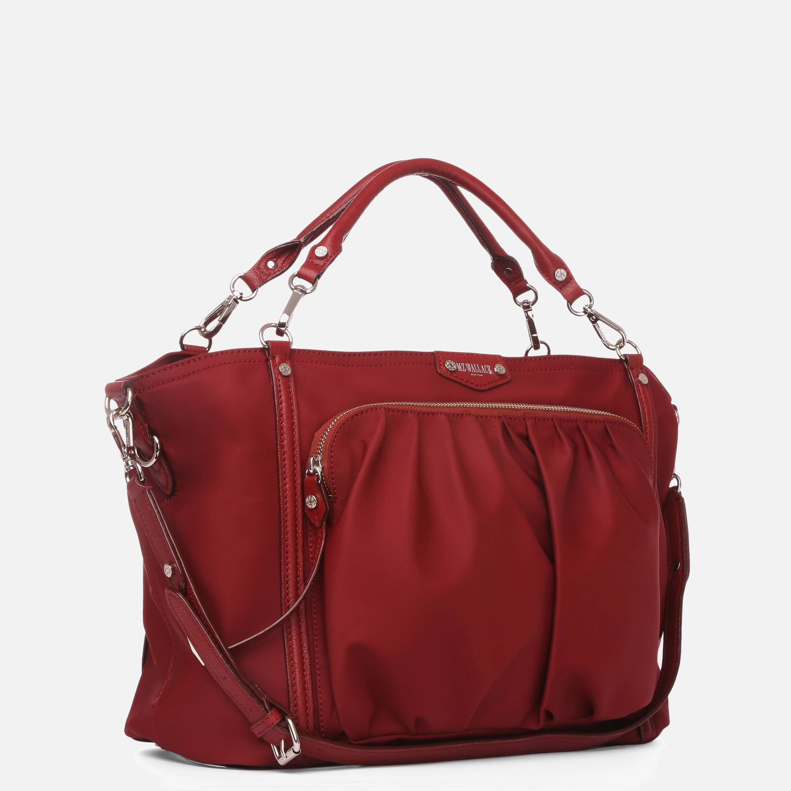 0b5e3a68a1d0f Lyst - MZ Wallace Redwood Bedford Nikki in Red