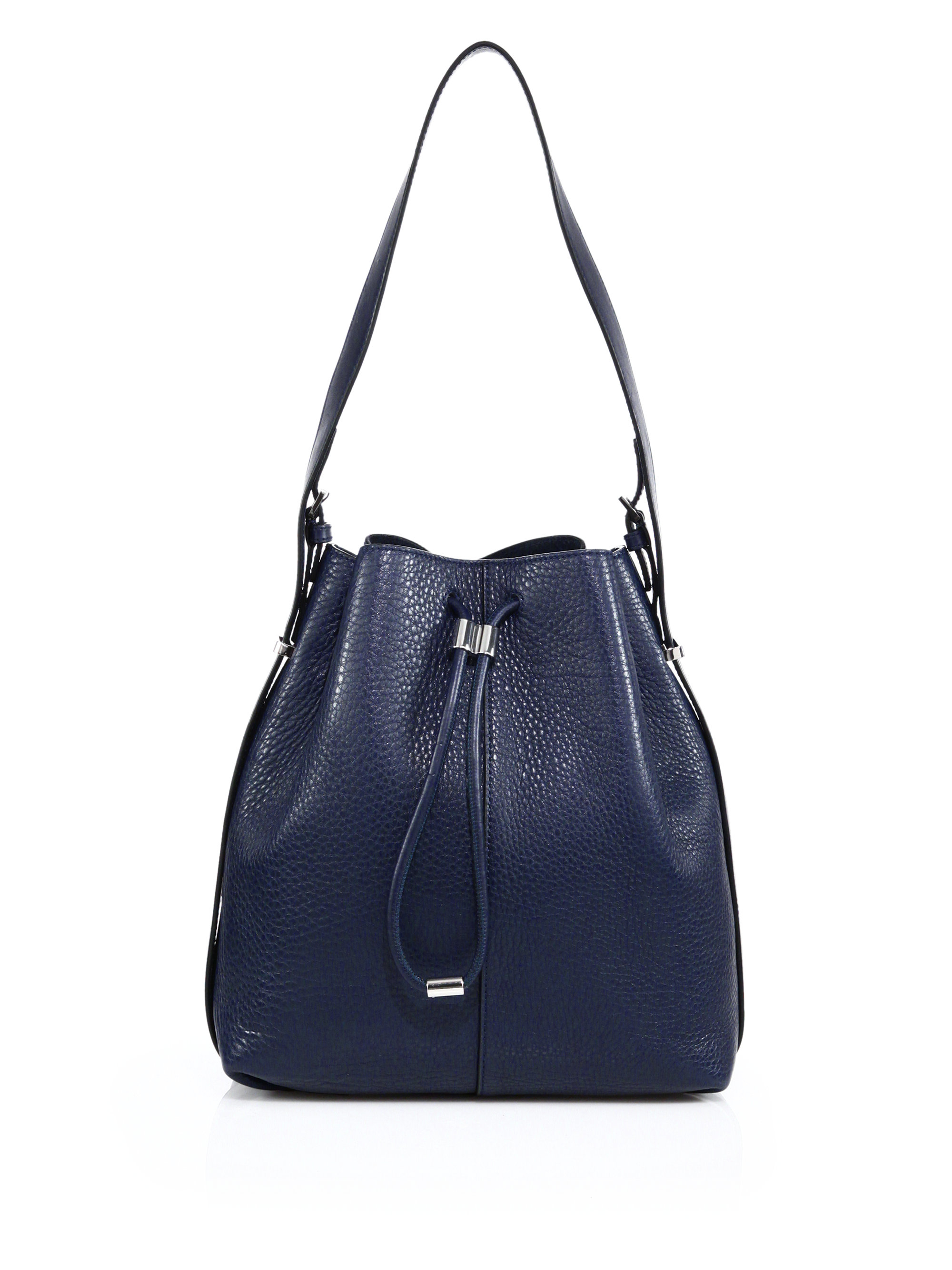 Alexander wang Prisma Leather Bucket Bag in Blue | Lyst